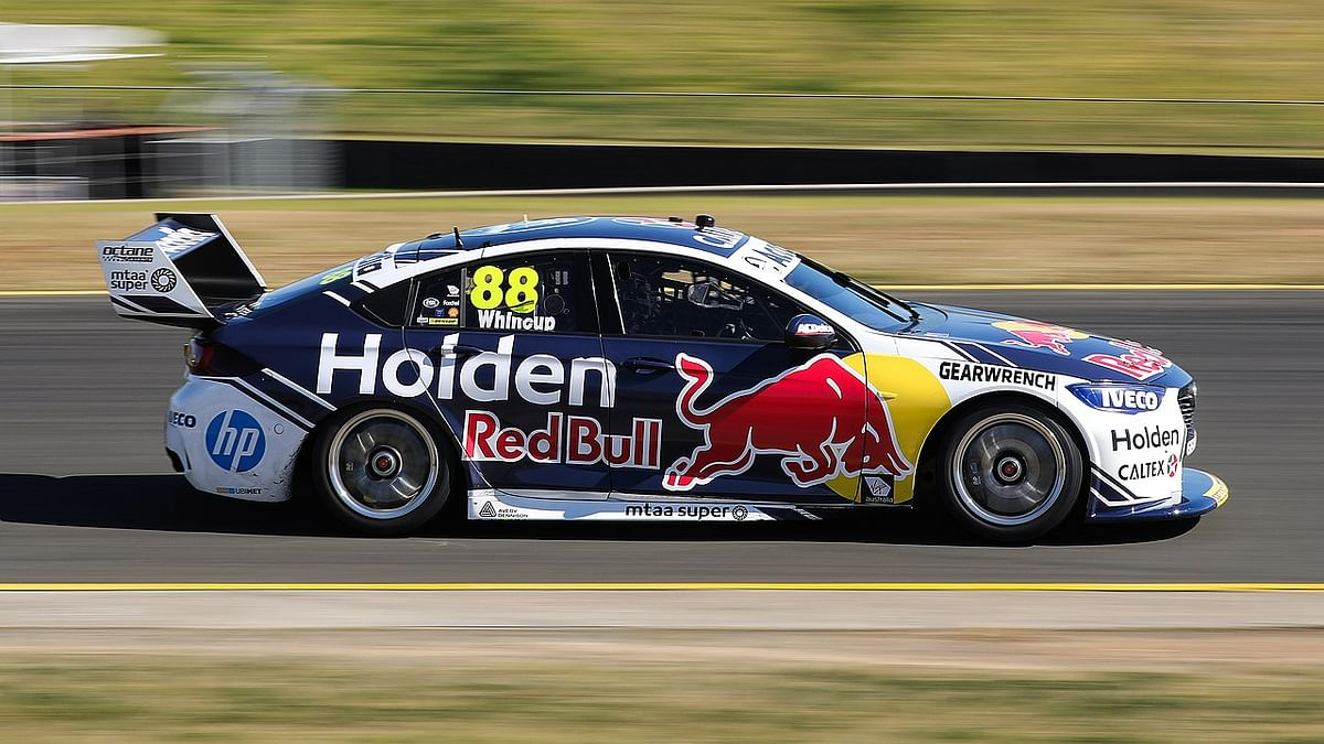 A Holden ZB Commodore touring car