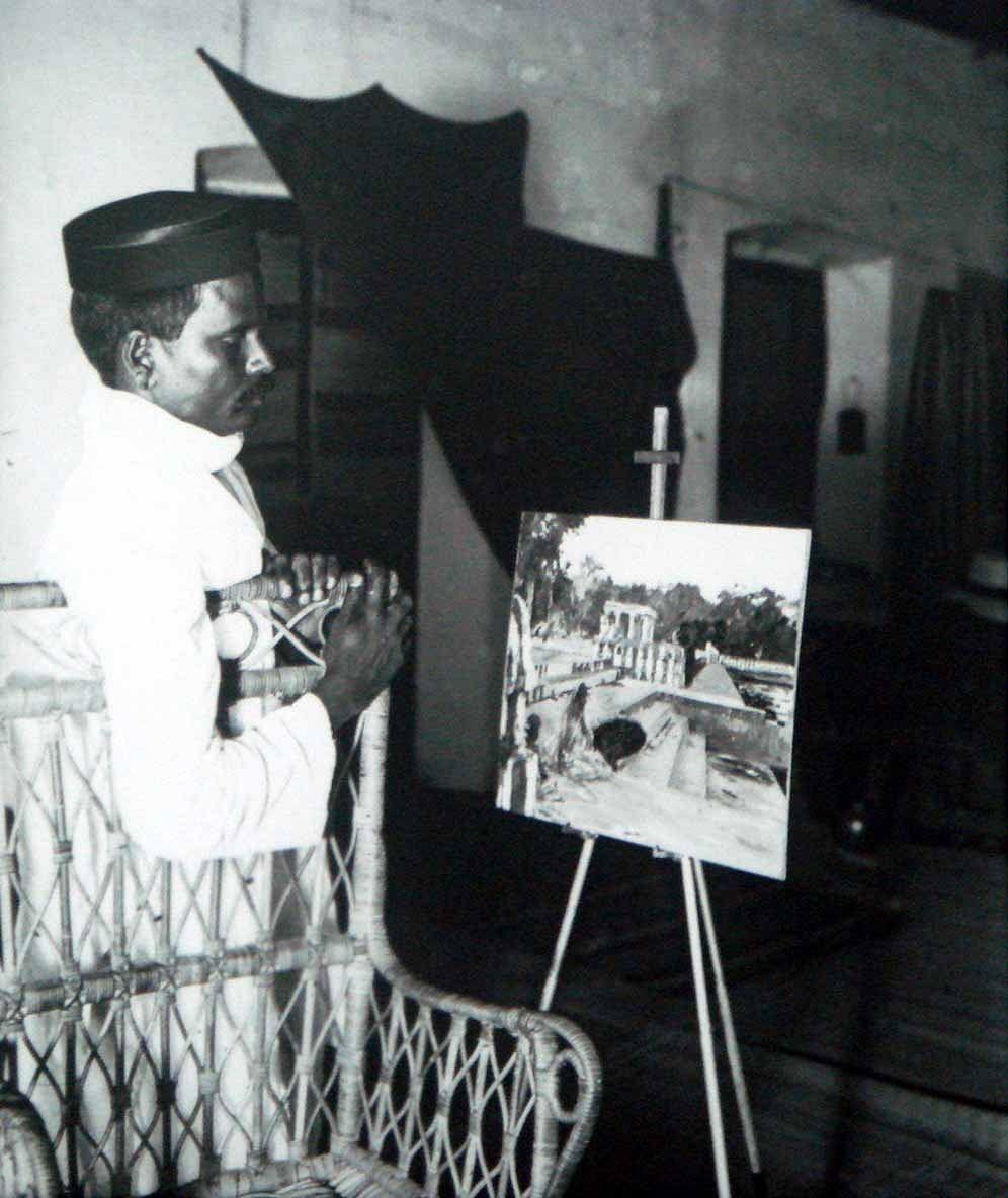 ஜார்ஜ் கஸ்தின் ஓவியம் மற்றும் அவரது உதவியாளர்