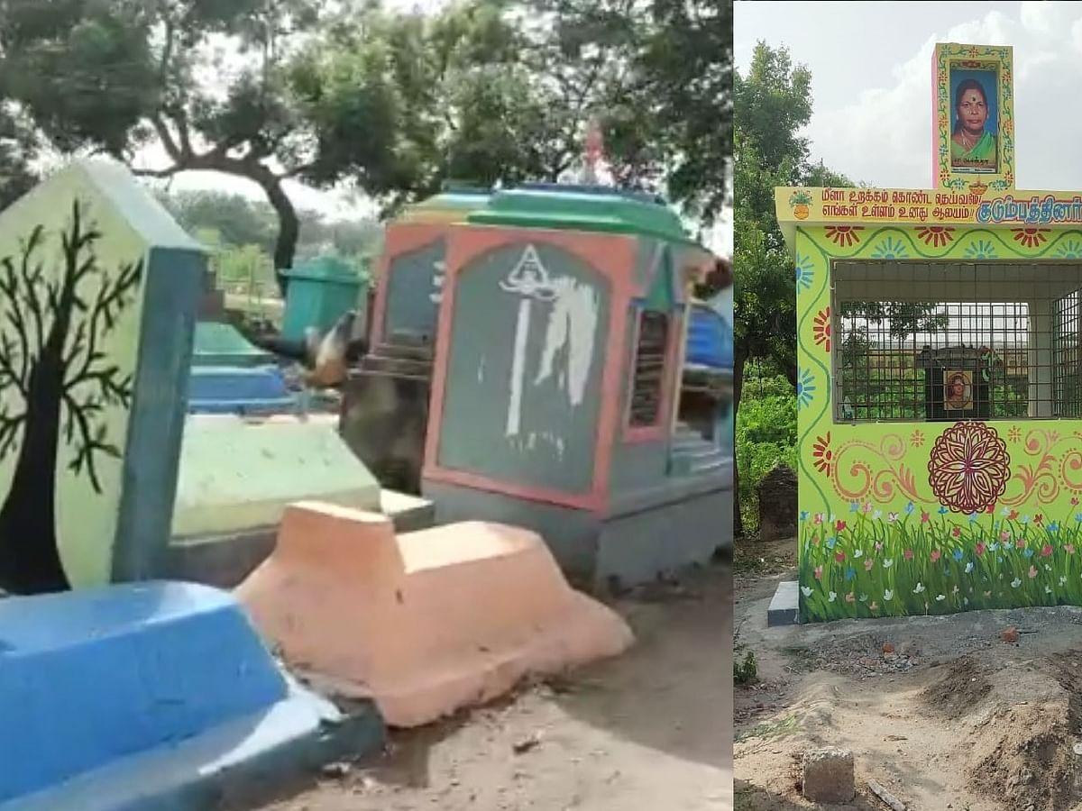 சென்னை; விதிகளை மீறி கட்டப்பட்ட கல்லறை: நடவடிக்கை எடுக்குமா மாநகராட்சி?