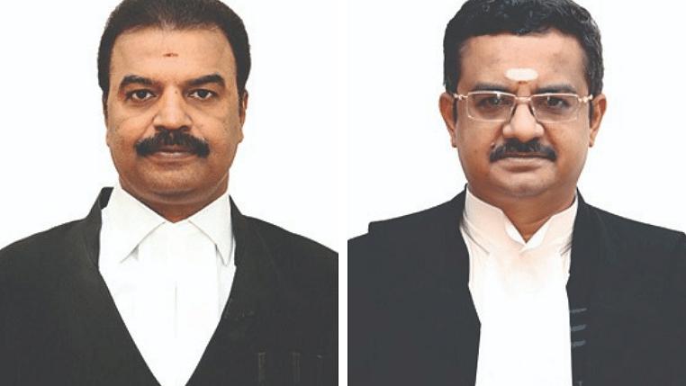 நீதிபதிகள் ஆர்.மகாதேவன், பி.டி.ஆதிகேசவலு