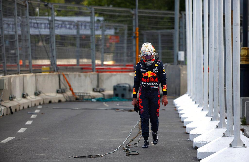Max Verstappen in distress