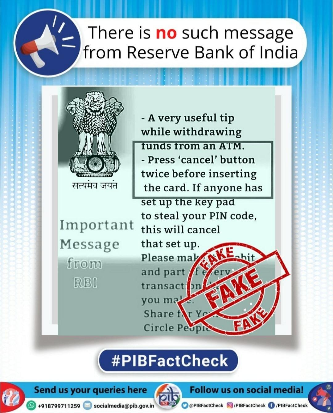 ATM-இல் கார்டை நுழைக்கும் முன்பு இருமுறை கேன்சல் பட்டனை அழுத்த வேண்டுமா?- #Factcheck #MyVikatan