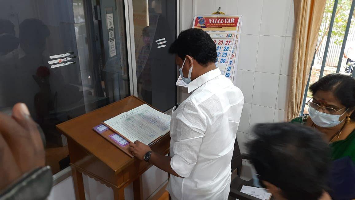 அன்பில் மகேஷ் பொய்யாமொழி ஆய்வு