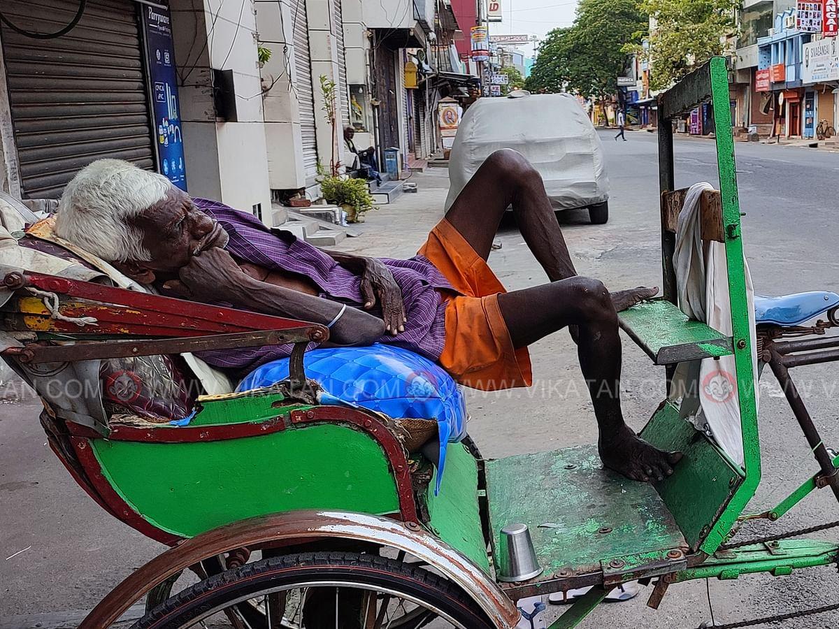 கொரோனா ஊரடங்கு காலகட்டத்தில் புதுச்சேரியில் கண்ட சில காட்சிகள்...