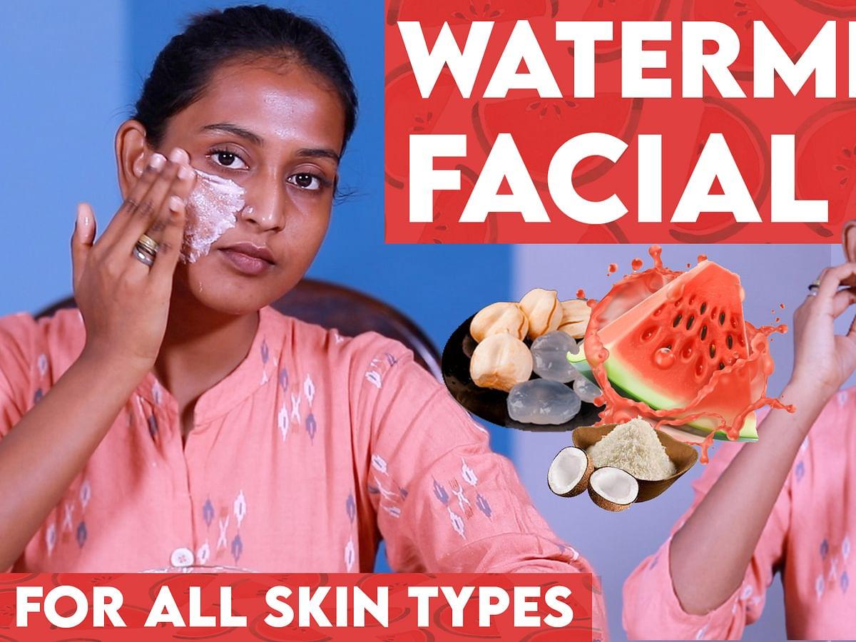 Skin Brightening Fruit Facial at Home | Watermelon Peel Off Mask | Glowing Skin | Say Swag