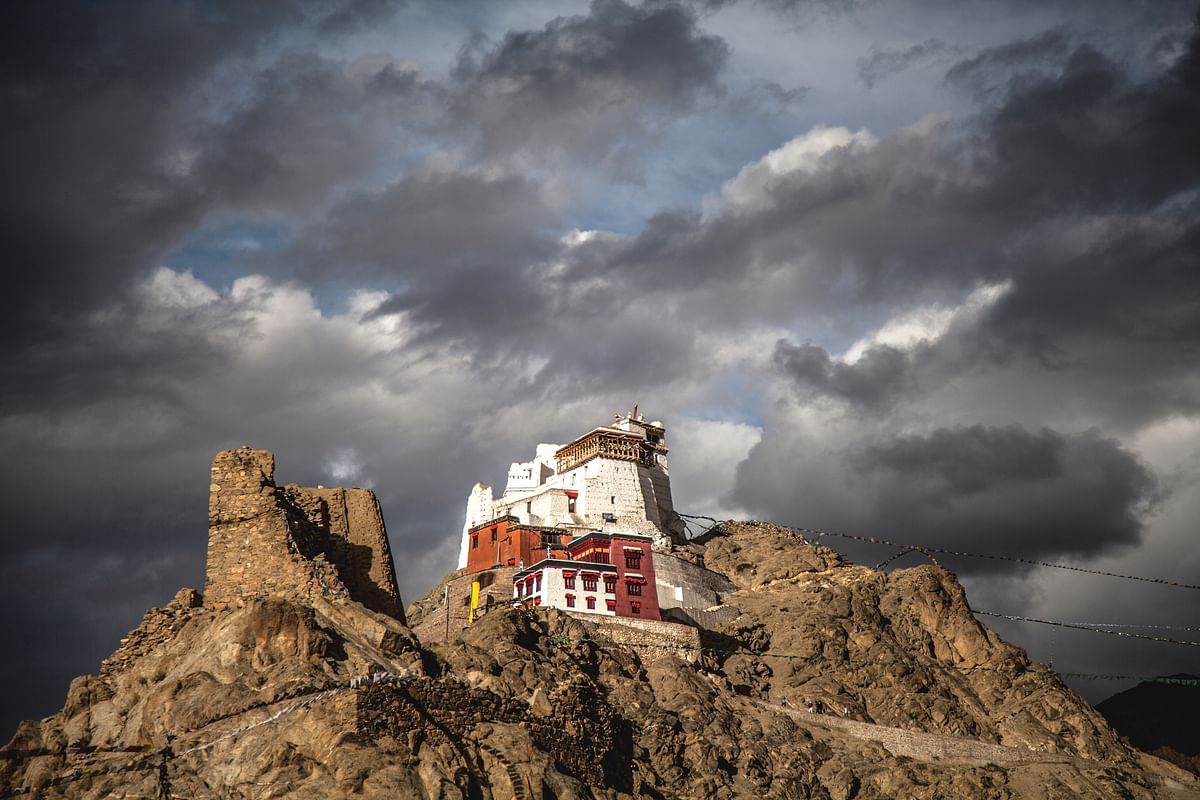 The Leh monastery stands pretty overlooking the city
