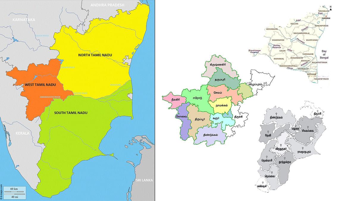 வட தமிழ்நாடு-கொங்கு நாடு-தென் தமிழ்நாடு