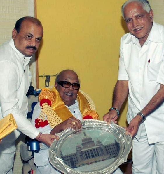 பசவராஜ் பொம்மை, கருணாநிதி, எடியூரப்பா