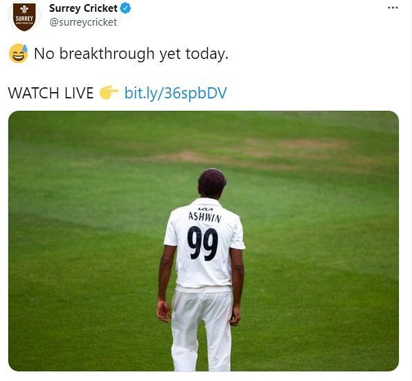 அஷ்வின் - Surrey Cricket