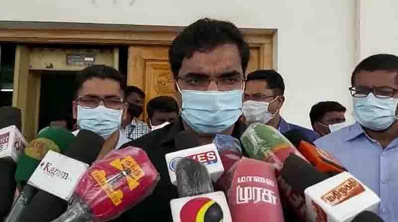 செய்தியாளர் சந்திப்பில் மாவட்ட ஆட்சியர் செந்தில்ராஜ்