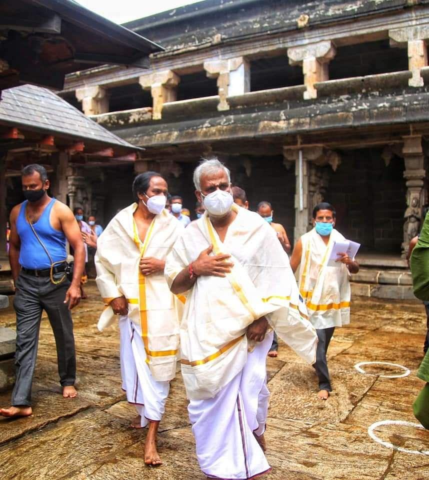 திருவட்டார் ஆதிகேசவ பெருமாள் கோயிலில் அமைச்சர்கள் ஆய்வு