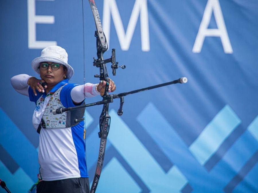 Tokyo Olympics : வில்வித்தை ரேங்கிங் சுற்று: தீபிகா குமாரி - 9; பிரவீன் ஜாதவ் - 31