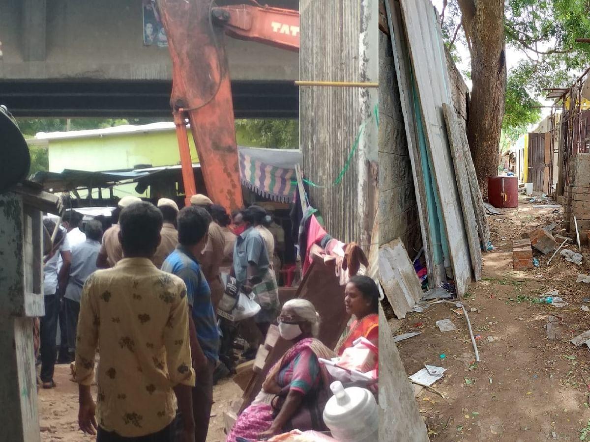 சென்னை: `அரும்பாக்கத்தில் குடிசைப் பகுதிகளில் உள்ள  வீடுகளை அரசு அதிகாரிகள் அகற்றினர்'
