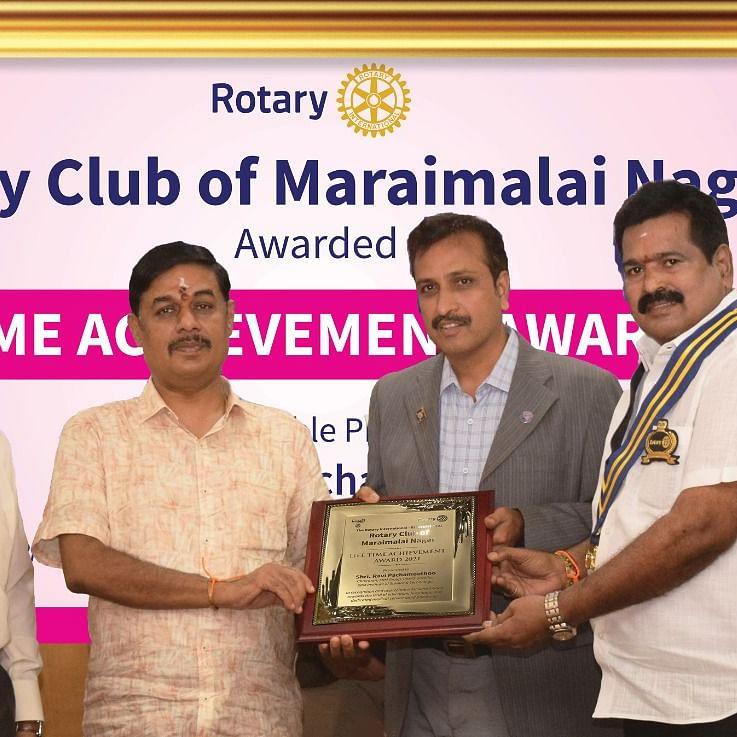 சேர்மன் ரவி பச்சமுத்து - வாழ்நாள் சாதனையாளர் விருது