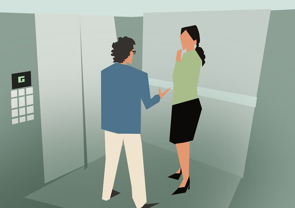 """Pavan makes his first """"elevator pitch"""" to Kavya"""