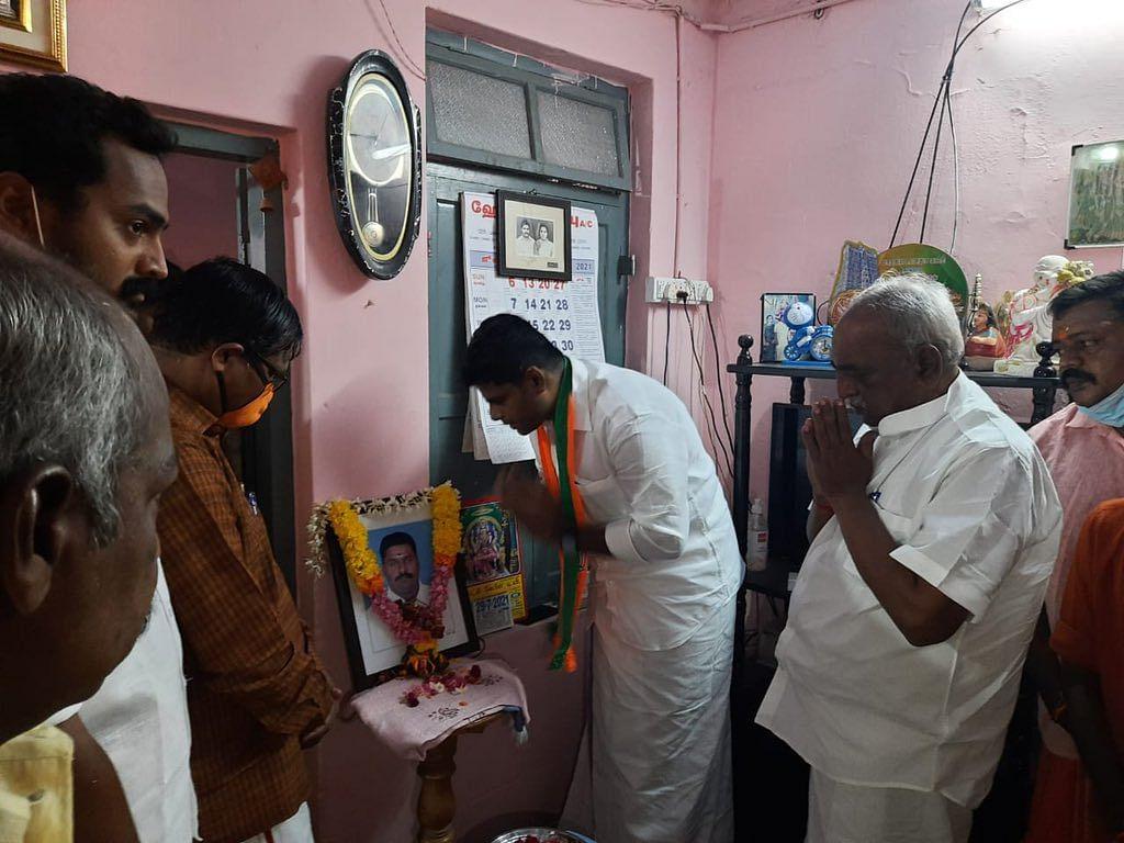 மறைந்த பா.ஜ.க நிர்வாகிக்கு அஞ்சலி