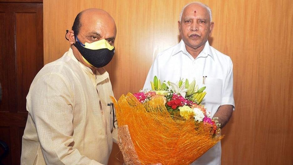 பசவராஜ் பொம்மை - எடியூரப்பா