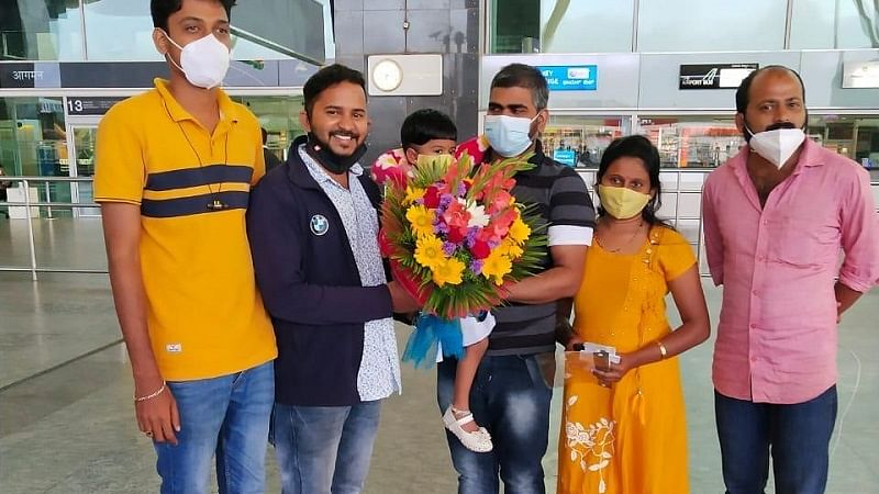 Harish with his family