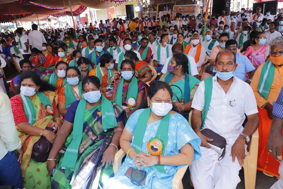 பா.ஜ.க  சார்பில் நடைபெற்ற உண்ணாவிரதப் போராட்டம்