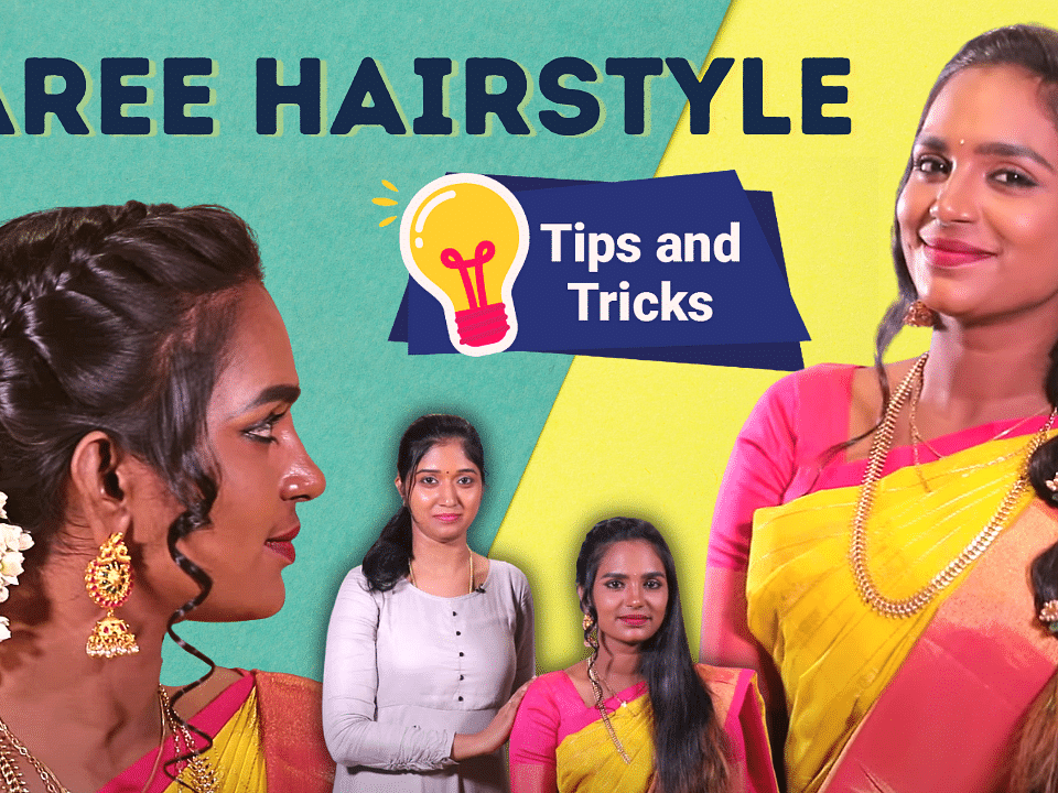 2 Easy Hairstyles For Saree Look   Hairstyle Tips & Tricks   Party & Wedding Hairstyles   Say Swag