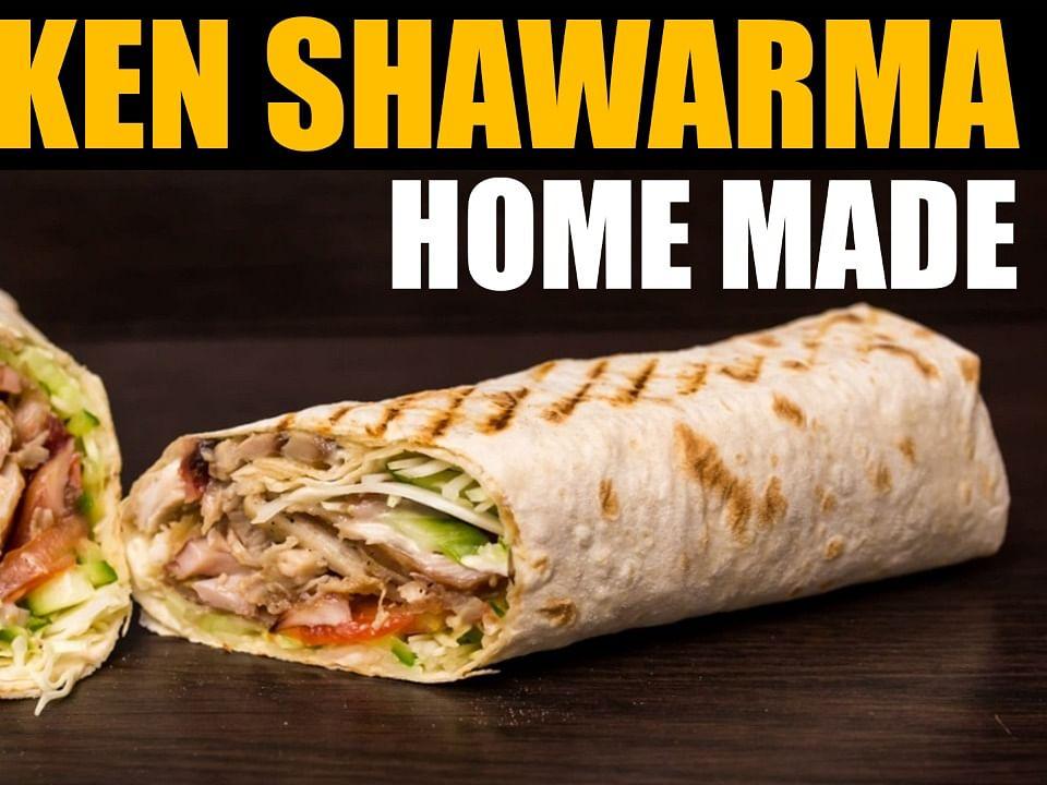 சிக்கன் சவர்மா செய்வது எப்படி? | Chicken Shawarma at home | Aval Kitchen