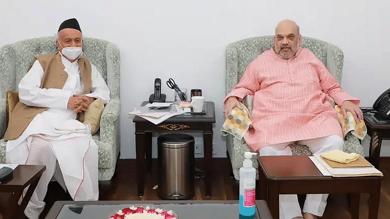 ஆளுநர் கோஷ்யாரி - அமித் ஷா