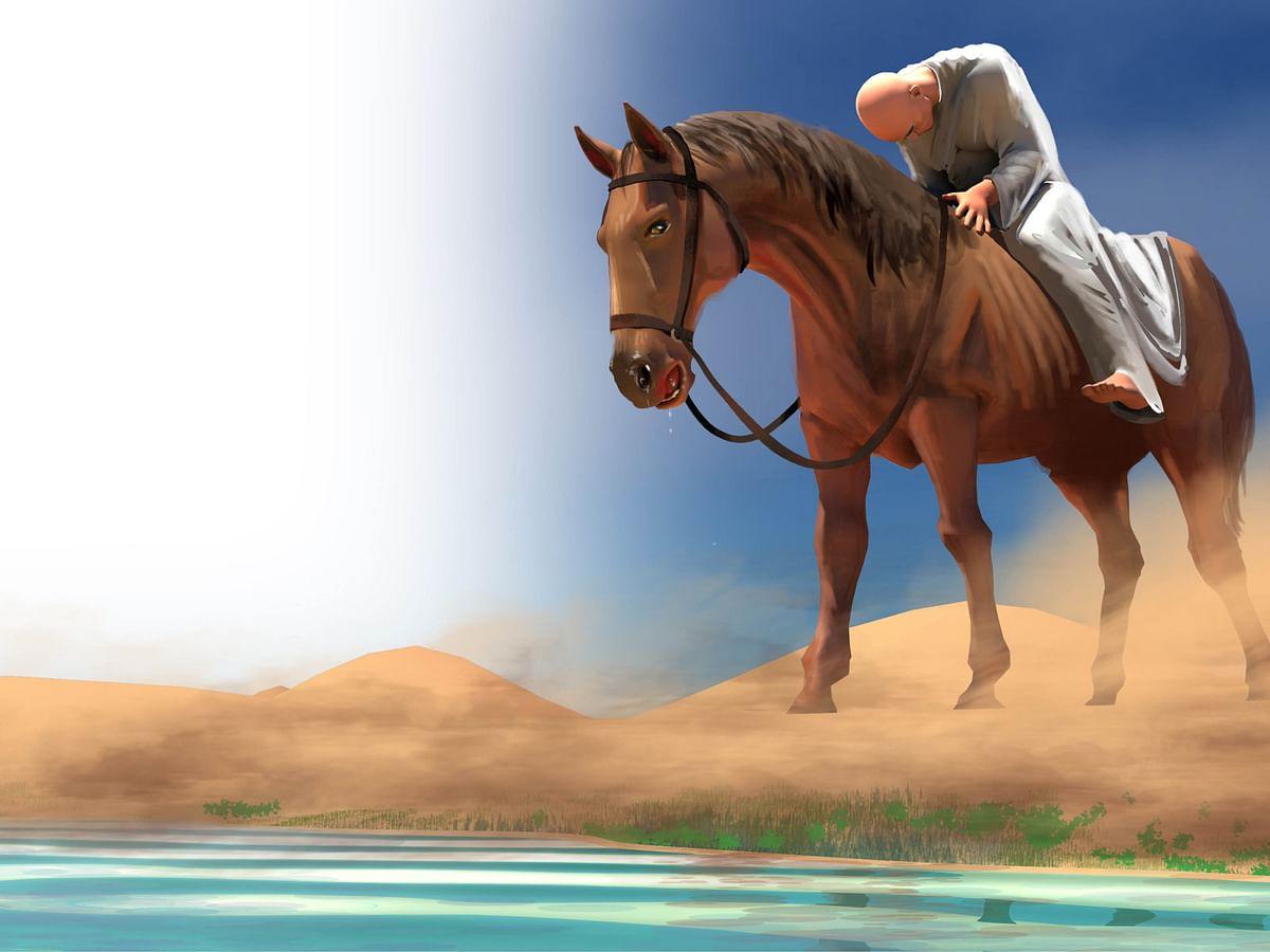 யுவான் சுவாங்கின் குதிரை