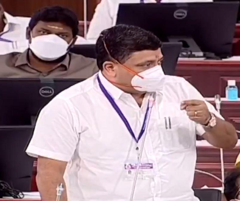 சட்டமன்றத்தில் நிதியமைச்சர் பி.டி.ஆர்.பழனிவேல் தியாகராஜன்