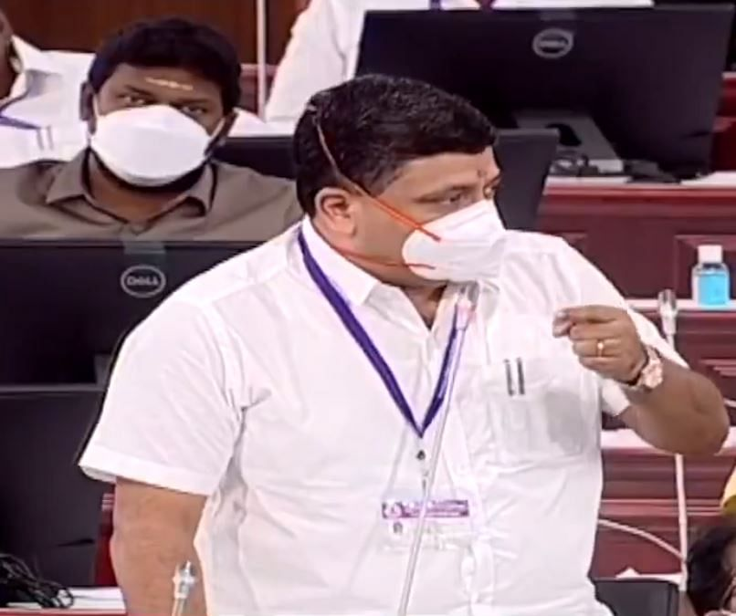 சட்டப்பேரவையில் பி.டி.ஆர். பழனிவேல் தியாகராஜன்