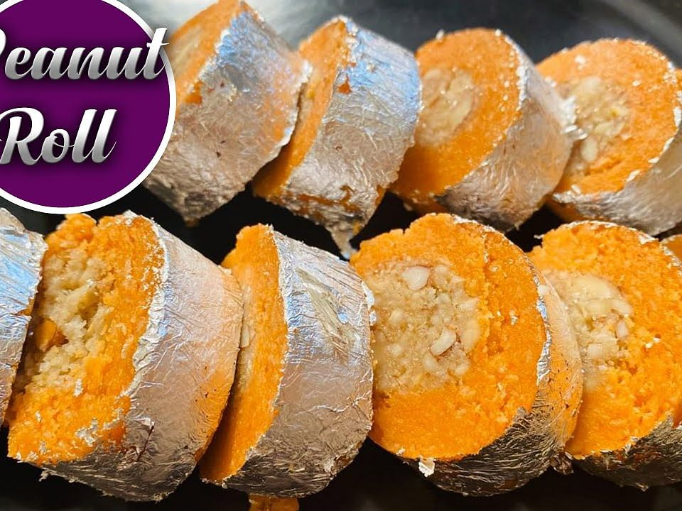 Peanut Roll Recipe in Tamil | Sweet Recipe | Aval Kitchen