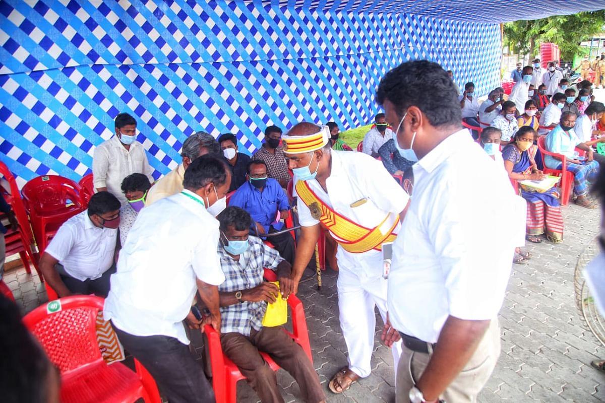மாநகராட்சி அலுவலகத்தில்  நடைபெற்ற ஏலம்