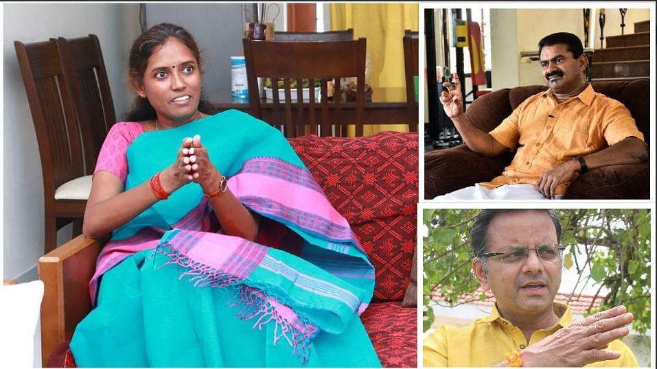 ஜோதிமணி எம்.பி., சீமான், ராகவன்