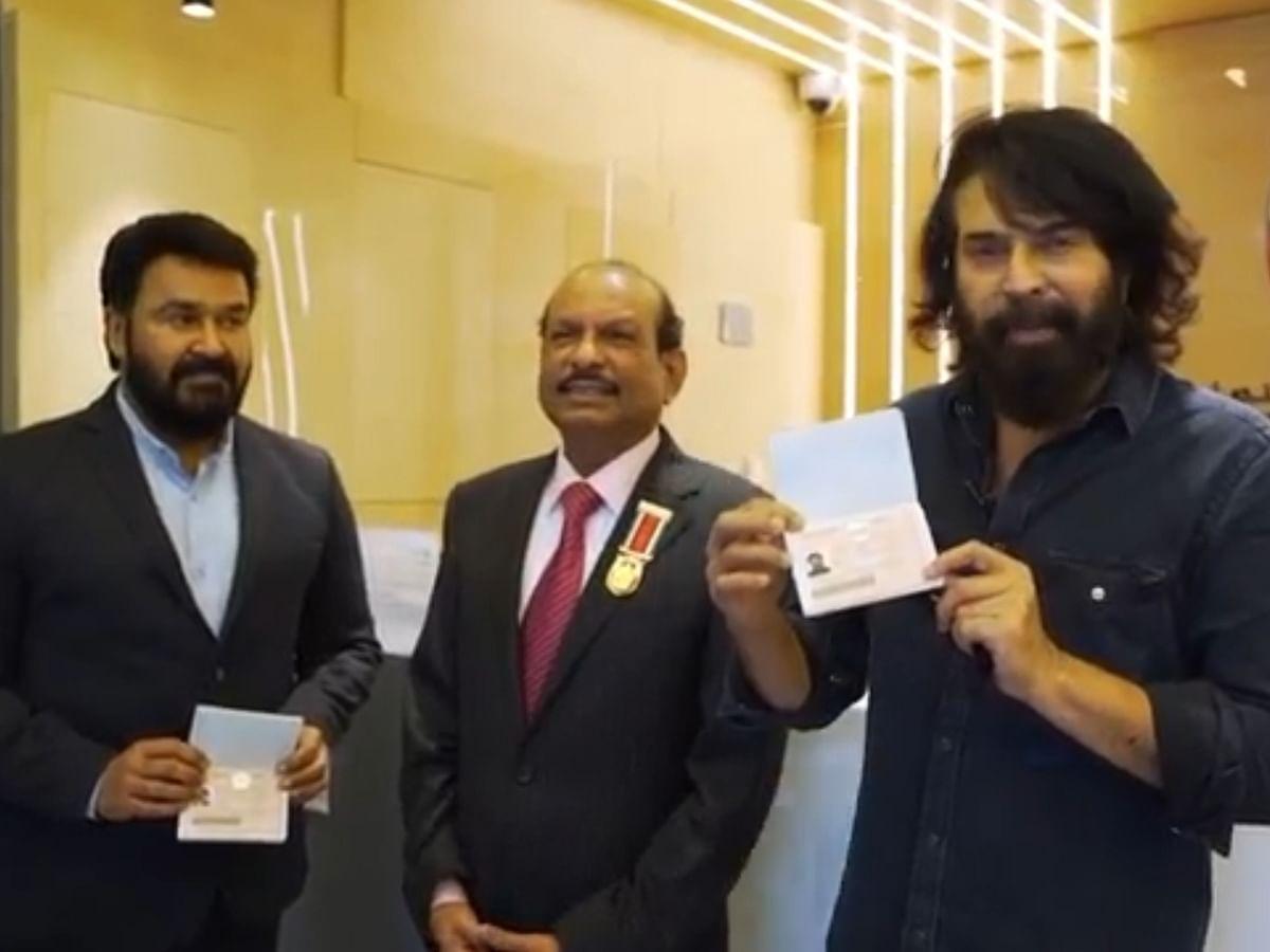 கோல்டன் விசா பெற்ற நடிகர்கள் மோகன்லால் மற்றும் மம்முட்டி
