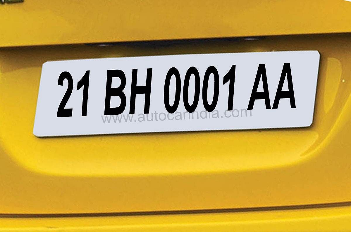 BH Number Plate
