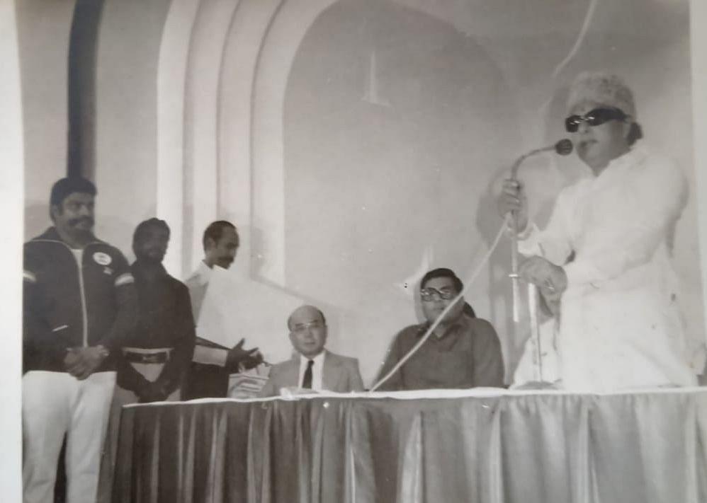 யமாகுச்சி பாராட்டு விழாவில் எம்.ஜி.ஆர்