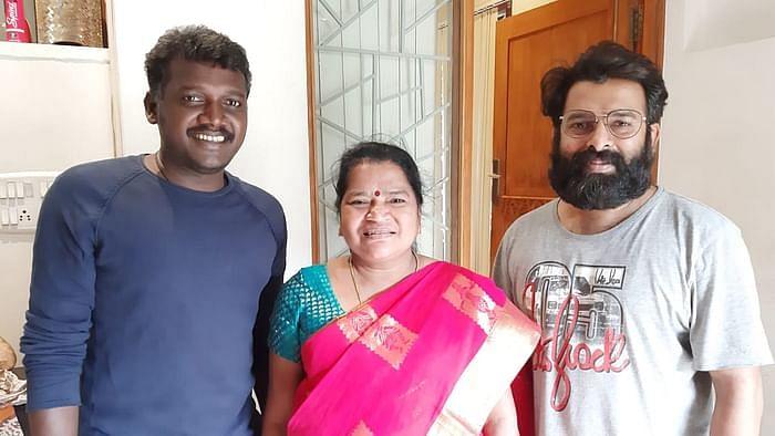 மாரி செல்வராஜ், சந்தோஷ் நாராயணனுடன் மாரியம்மாள்
