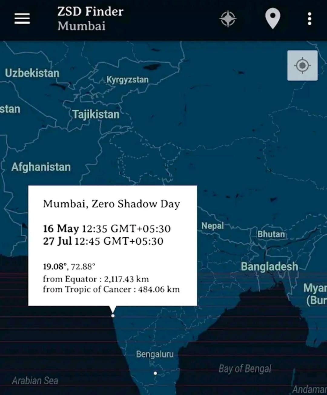 Zero Shadow Day App
