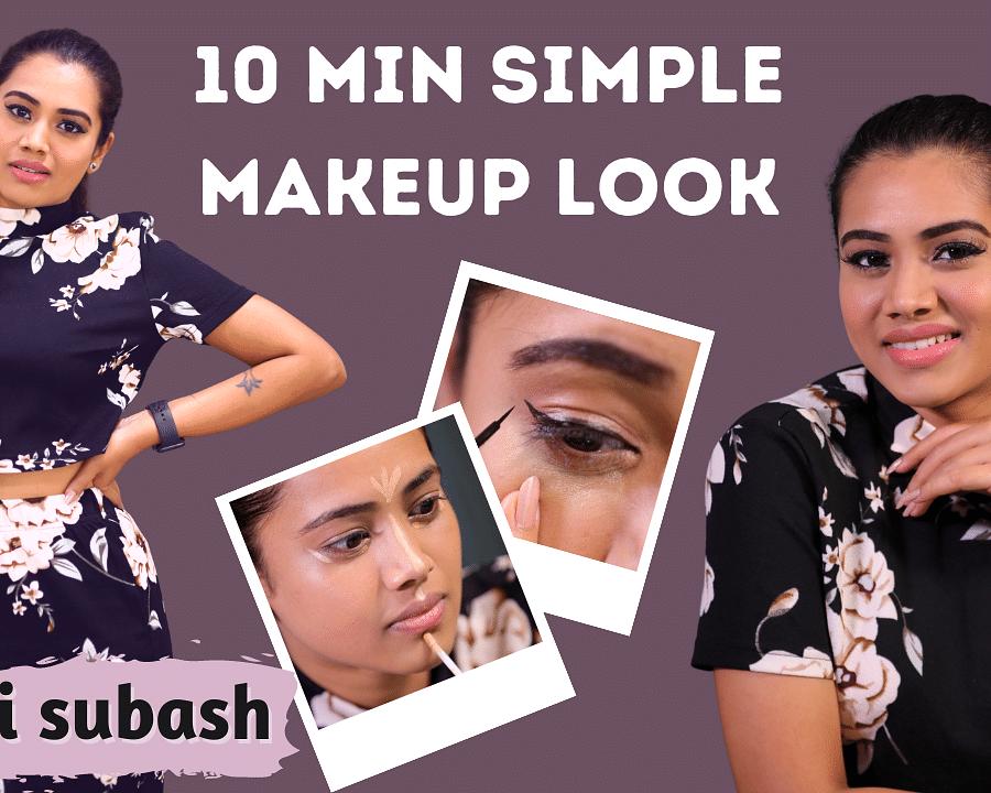 Aarthi Subash's 10 Minute Simple Makeup Routine