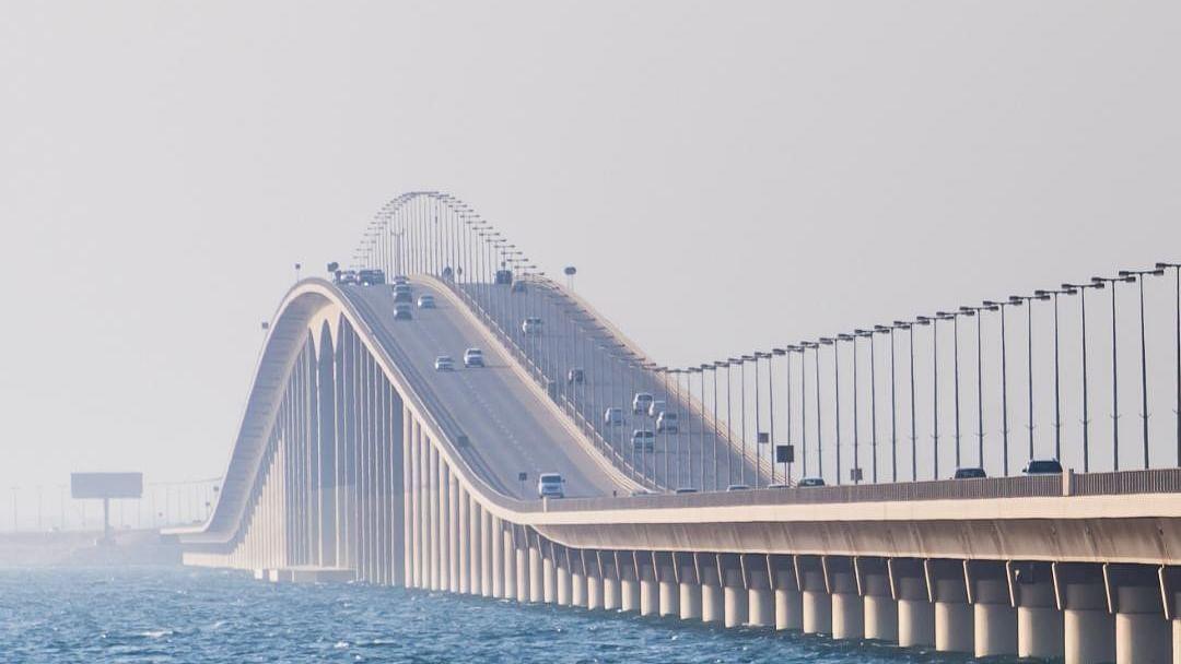 King Fahd Causeway bridge between Saudi Arabia and Bahrain