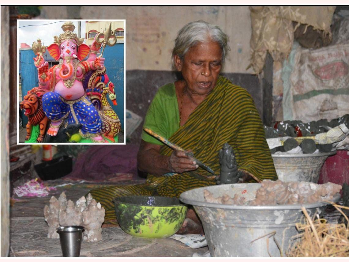 விநாயகர் சதுர்த்தி: களையிழந்த கொசப்பேட்டை; அடையாளம் காக்கப் போராடும் சிலைத் தொழிலாளர்கள்!