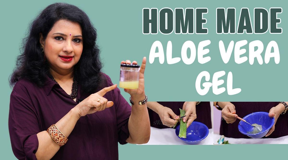 Home made aloe vera gel