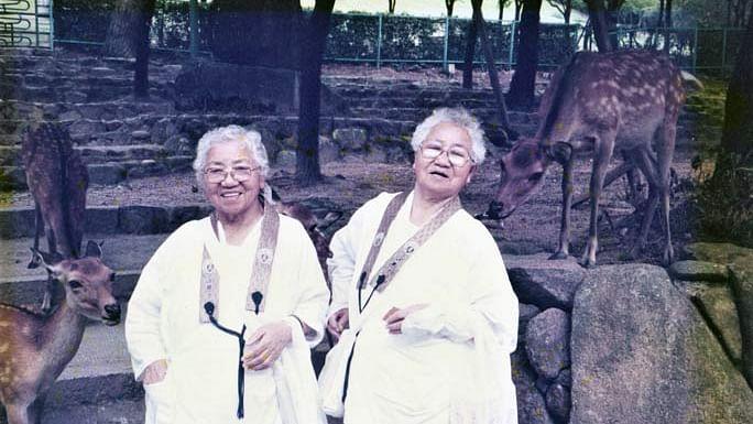 ஜப்பானின் 107 வயது இரட்டையர்களின்