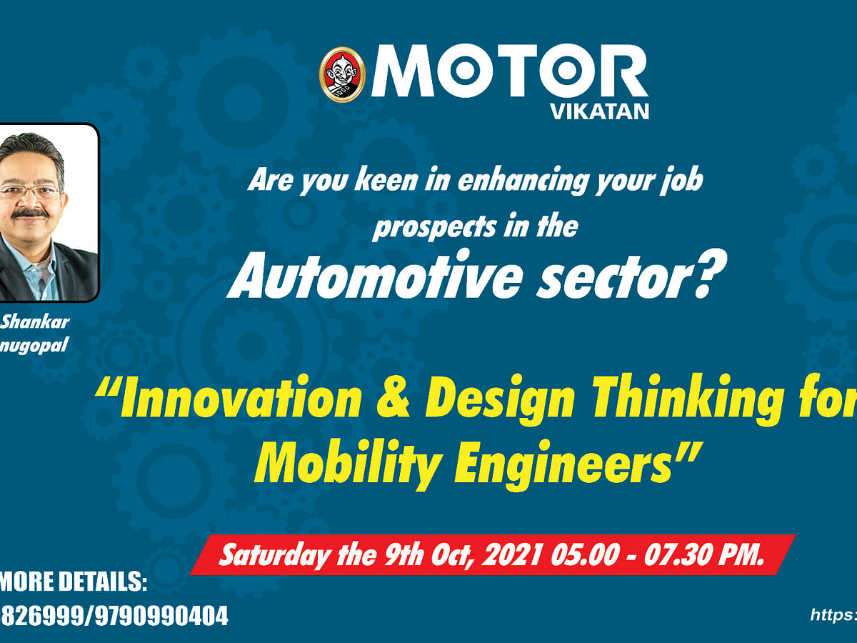 Motor Vikatan's workshop on Innovation & Design Thinking for Mobility Engineers