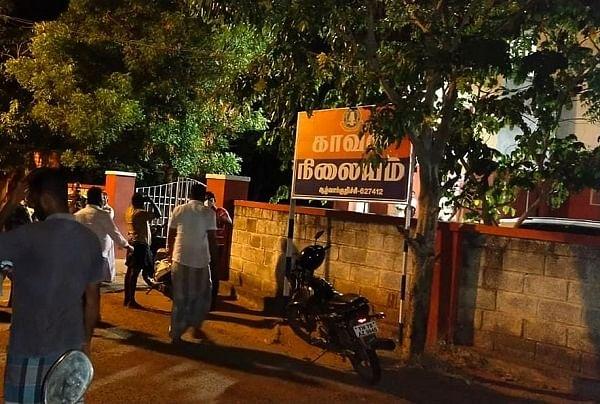நரபலி வதந்தியால் காவல்நிலையம் முன் திரண்ட மக்கள்