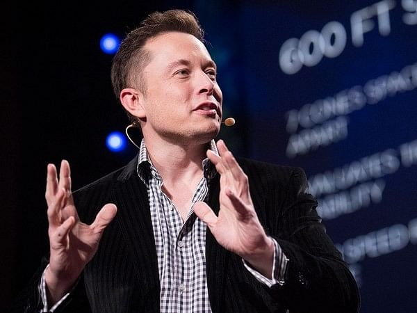 """Elon Musk delivering his TED Talk """"The Mind behind Tesla, SpaceX, Solar City…"""" (2013)."""