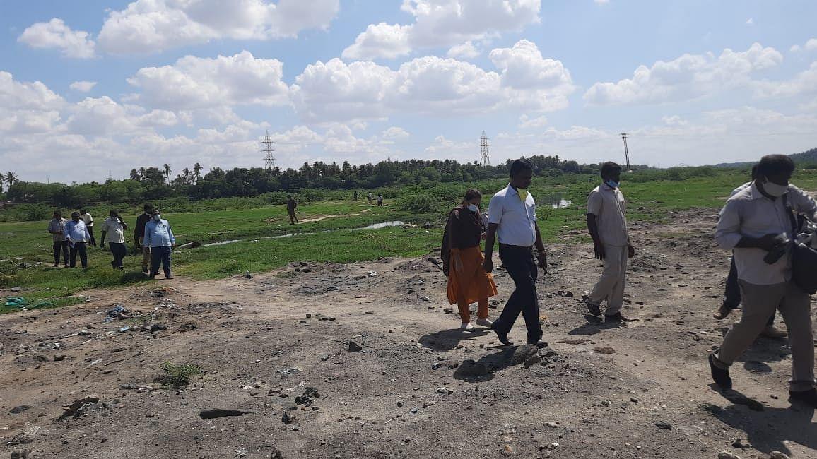 அமராவதி ஆற்றில் சோதனை