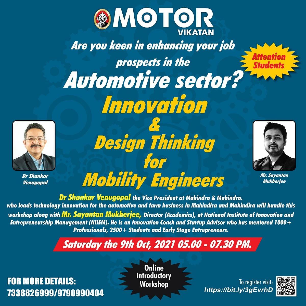Workshop to enhance Job Prospects by Mr Sayantan Mukherjee and Dr Shankar Venugopal