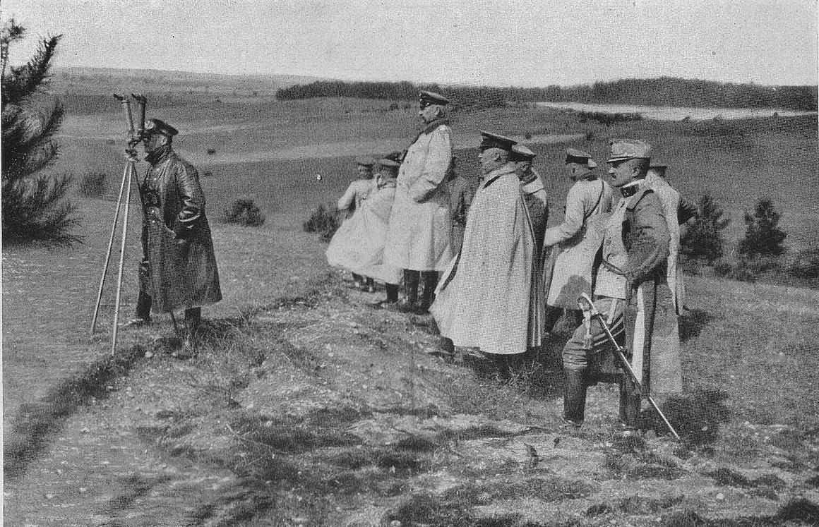 8th Army staff at the Battle of Masurian Lakes