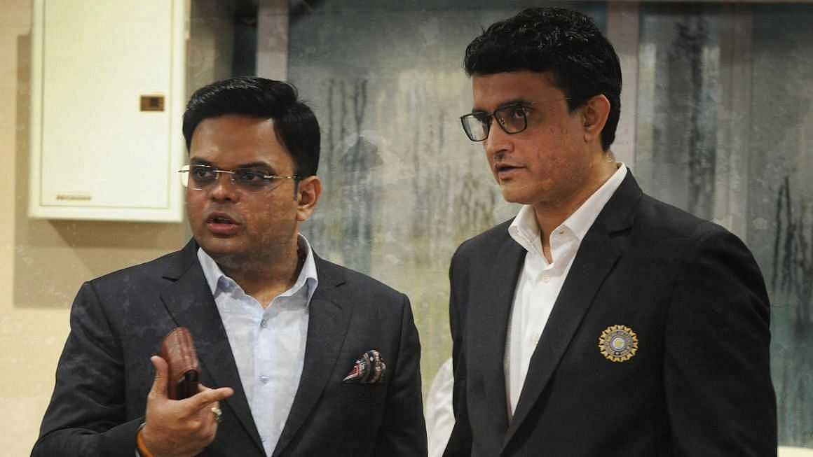Sourav Ganguly with Jay Shah