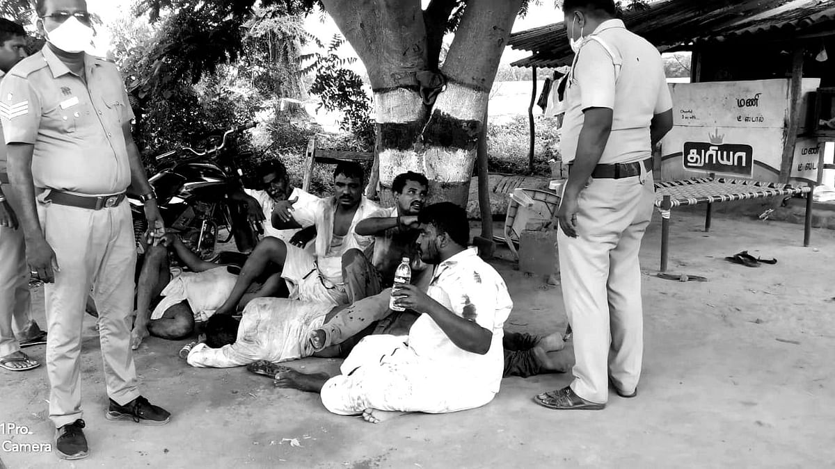 குடி போதையில் ரகளை செய்த திமுக நிர்வாகிகள்